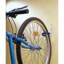 Wieszak na rower mocowany za koło powlekany